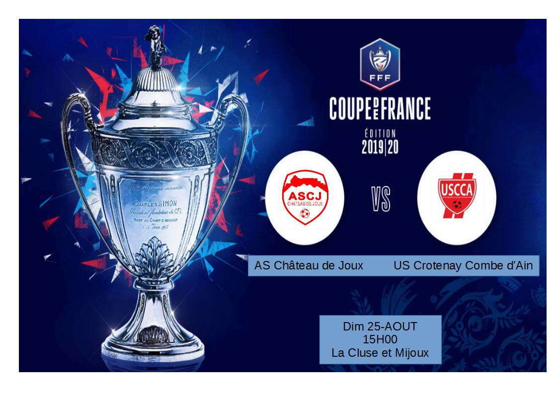 Deuxième tour coupe de France face à US Crotenay Combe d'Ain