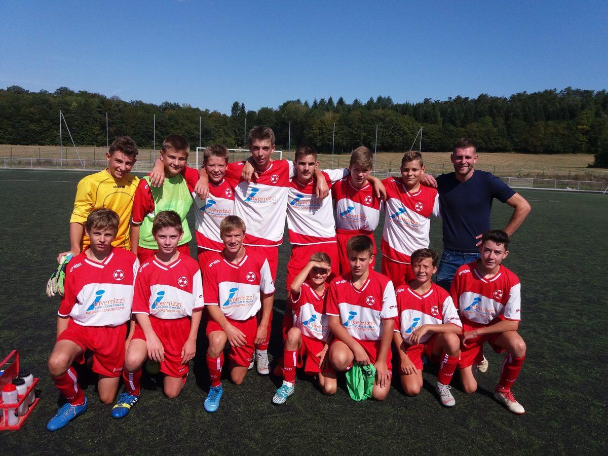 Première journée championat automne pour l'Equipe 1 en U15