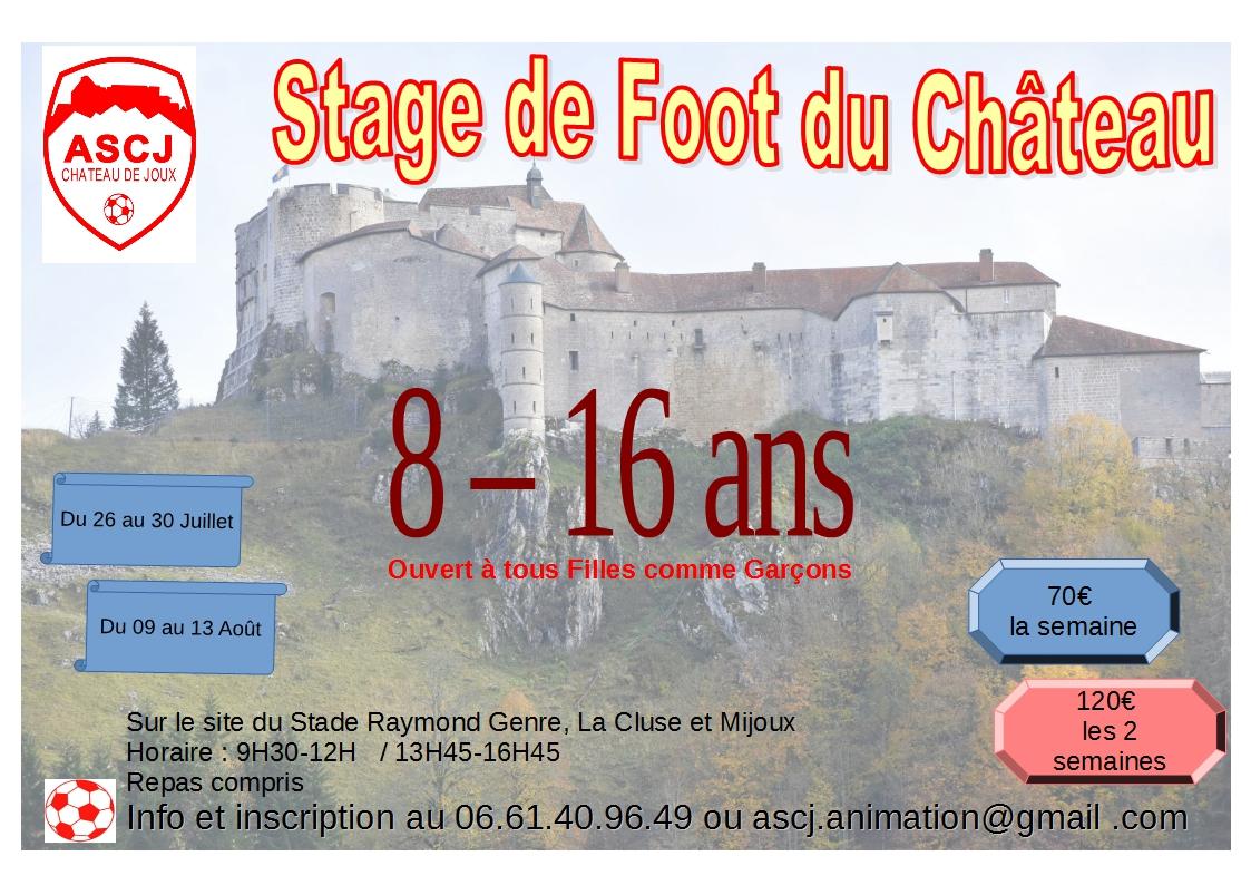 Stage de FOOT du Château de Joux